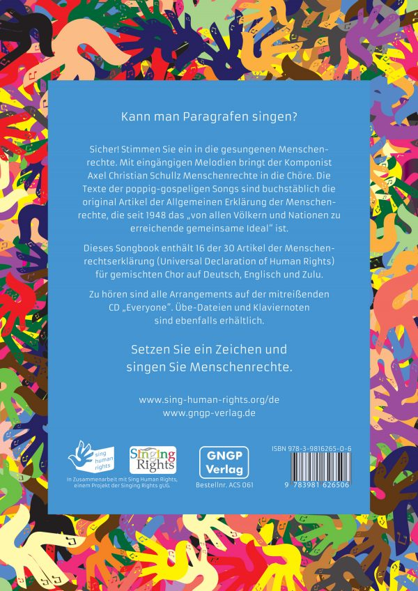 "Songbook ""everyone"" Backcover"
