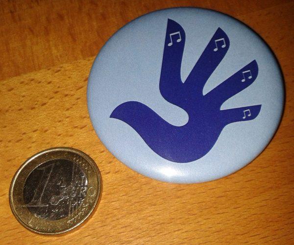 Button Vogelhand 1