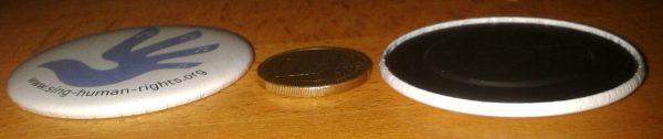 Magnet Vogelhand Seitansicht